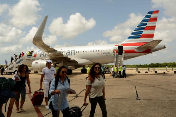 escambray today, american airlines, regular flights, cuba