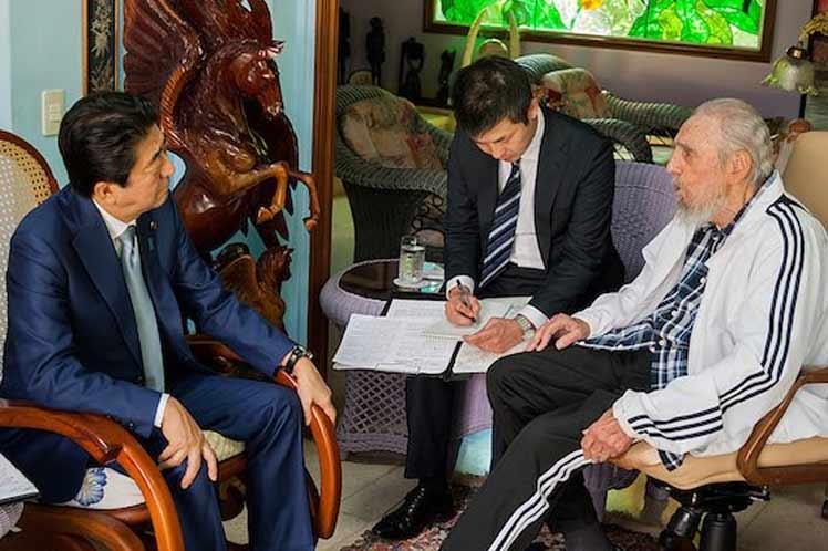 escambray today, japanese prime minister shinzo abe, fidel castro