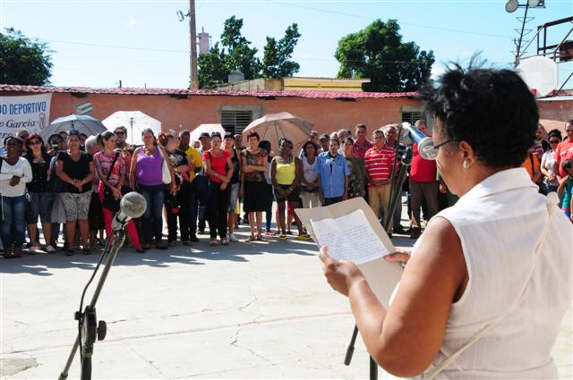 escambray today, deferation of cuban women, fmc, sancti spiritus, us blockade