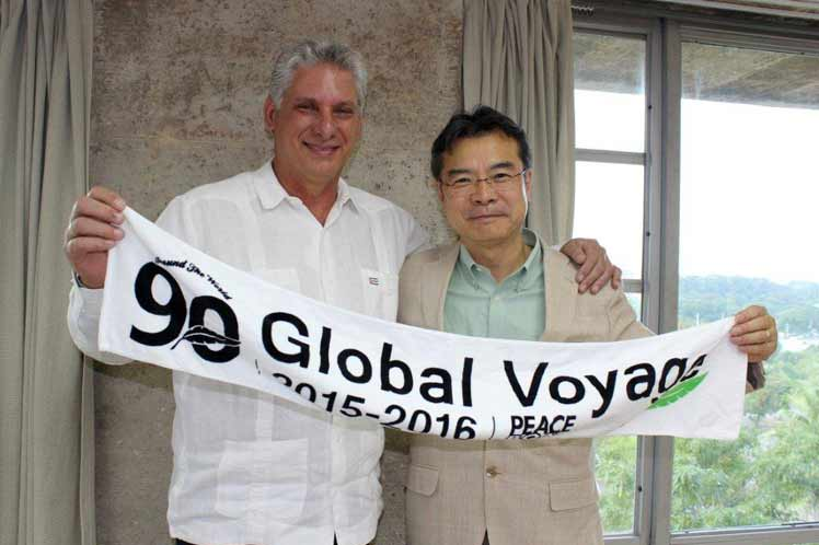 escambray today, miguel días-canel, japanese pacifist, peace boat