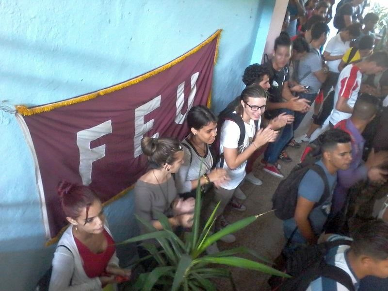 escambray today, university students federation, us blockade, sancti spiritus