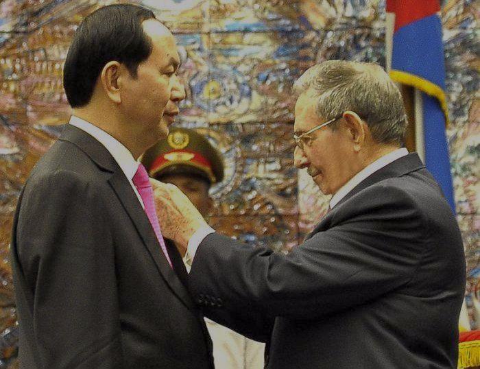 escambray today, raul castro, vietnamese president tran dai quang