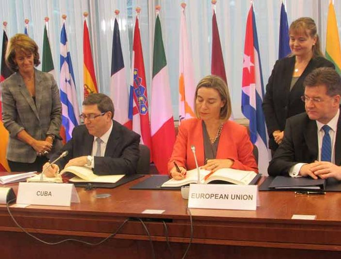 escambray today, cuba, european union, political dialogue, cooperatiion, bruno rodriguez parrilla, federica mogherini