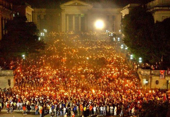 escambray today, jose marti, march of torches