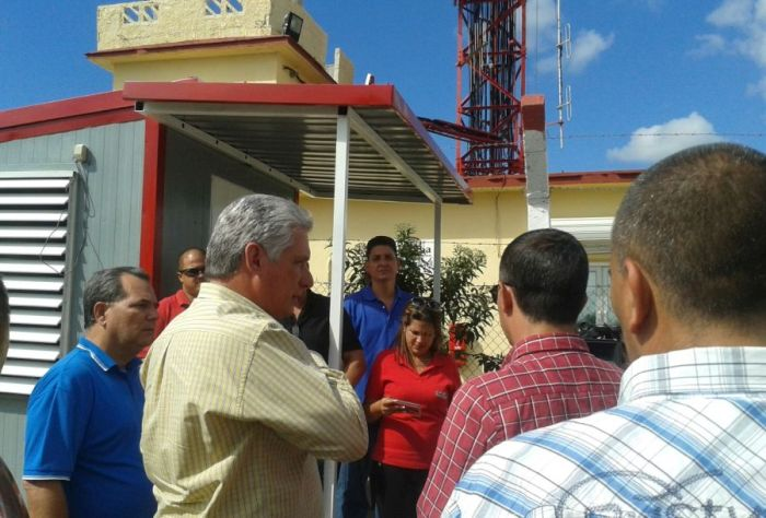 escambray today, miguel diaz-canel, tv trasmission center, san isidro transmission center, digital television