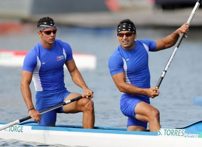 escambray today, Cuban canoeists, Serguei Torres and Fernando Dayan Jorge, Canoe Sprint World Cup