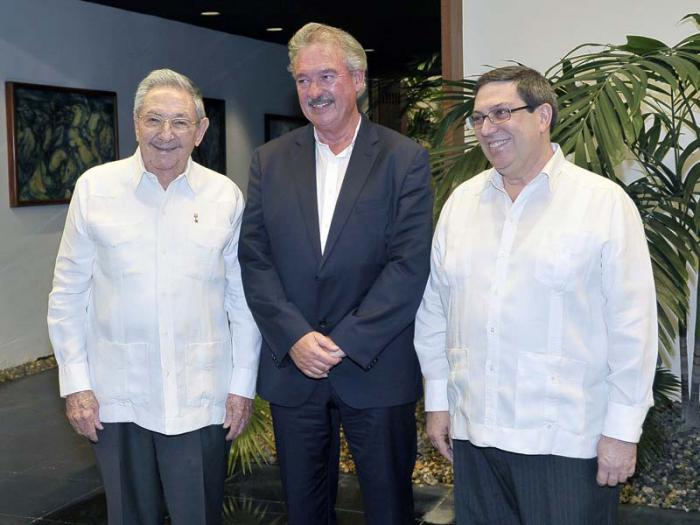 escambray today, raul castro, bruno rodriguez, foreign minister of luxemburg