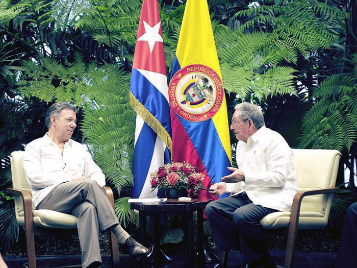 escambray today, rauk castro, juan manuel santos, peace talks, cuba-colombia relations