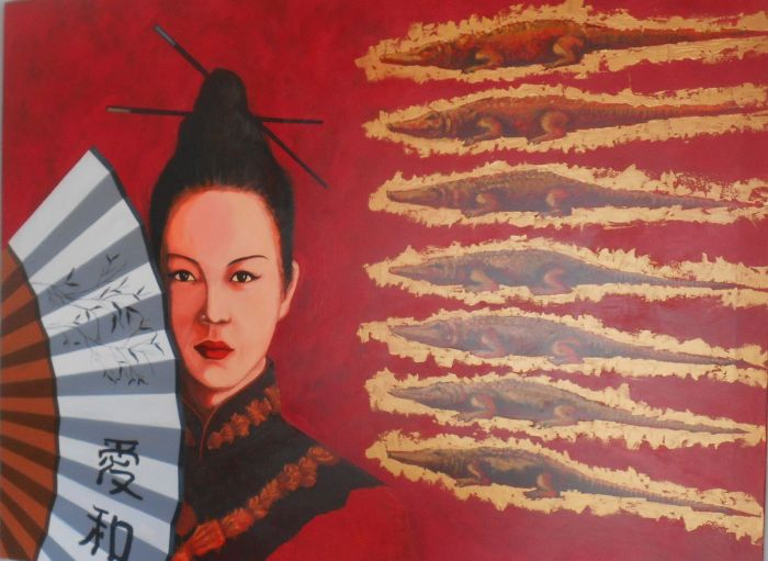 the village of the holy spirit, colonial art museum, fan collection, alexander hernandez chang, chinese traditions