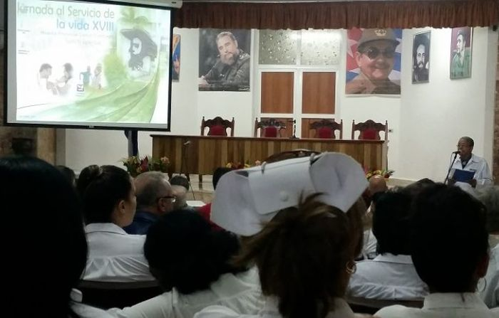escambray today, sancti spiritus, scientific workshop, jornada al servicio de la vida, civil hospital of sancti spiritus