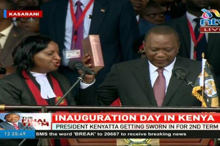 escambray today, kenya, kenya president inauguration, uhuru kenyatta