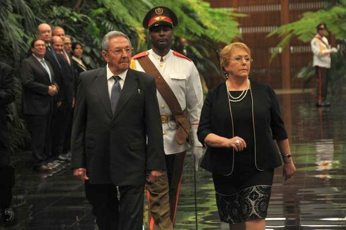 escambray today, chile, cuba, michelle bachelet, raul castro