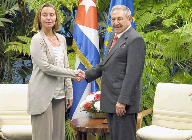 escambray today, cuba-european union relations, federica mogherini, raul castro