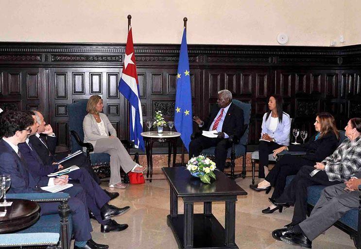 escambray today, cuba-european union relations, federica mogherini, cuban parliament, esteban lazo