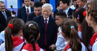 Nguyen Phu Trong in Havana, Cuba