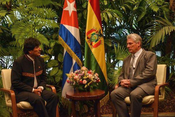 Díaz Canel with Evo Morales
