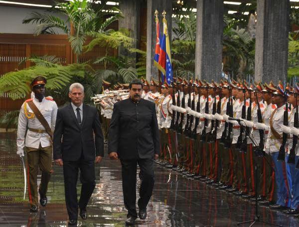 Díaz-Canel and Nicolás Maduro