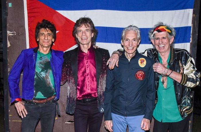 The Rolling Stones in Havana, Cuba.
