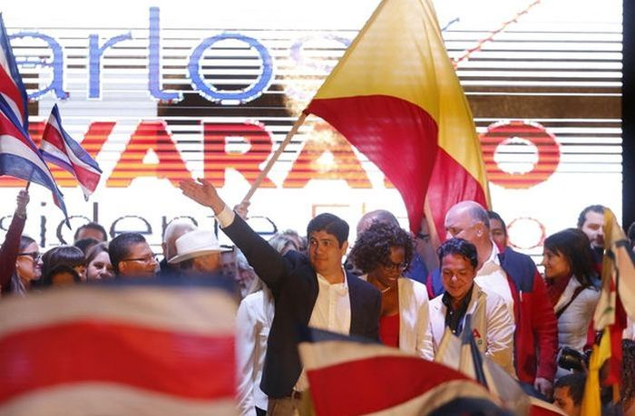 Carlos Alvarado, new president of Costa Rica