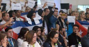 Cuban denounces in Lima forum