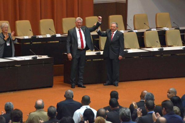 Raul Castro and Miguel Díaz-Canel