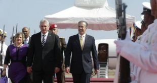 diaz canel arrives in venezuela