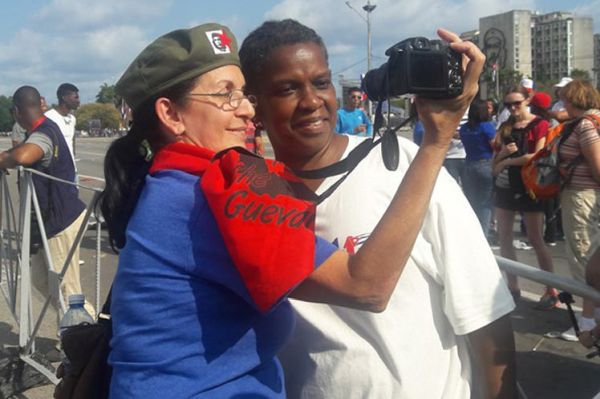 Gail Walker in Cuba for May Day
