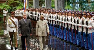 diaz canel with indian president