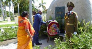 india president in santa ifigenia