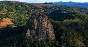 Piedra Gorda seen from the air