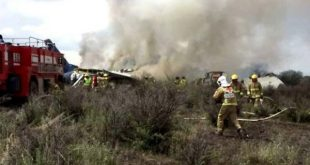 Plane crash in Mexico