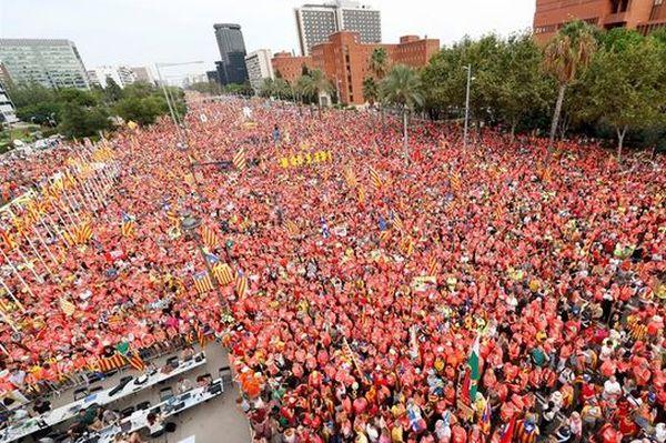 demonstration in cataluya