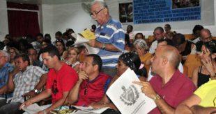 Constitutional project discussions in Sancti Spiritus