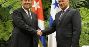 Díaz Canel and Carlos Varela