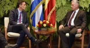 Díaz-Canel welcomes Spanish President