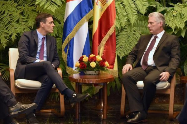 Díaz-Canel welcomes Spanish President