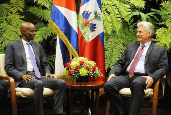 Haiti president in Cuba