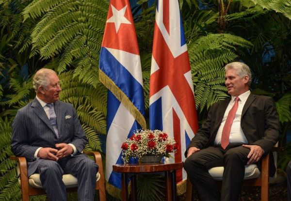 diaz-canel-welcomes prince of wales