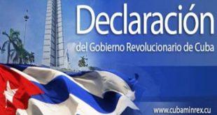 Cuba-Minrex-Statement