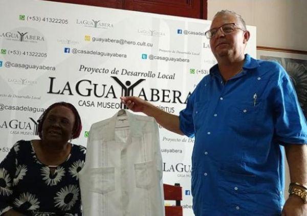 guayabera shirt from santiago alvarez