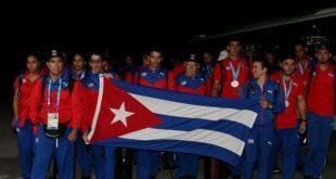 cuban athletes back from lima
