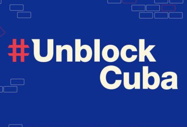 Unblock Cuba sign