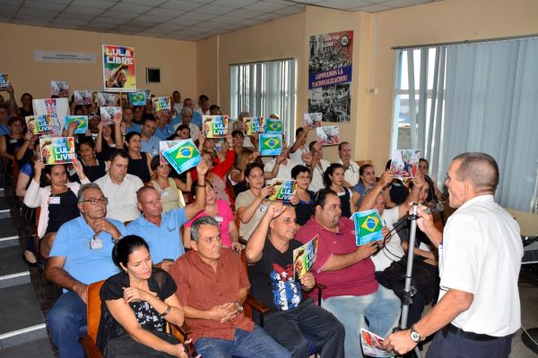 Workers of Sancti Spiritus support the Lula Libre Campaign and demand freedom for former Brazilian president