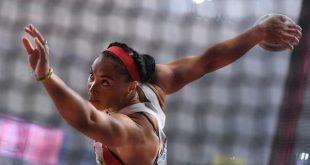 Cuban Yaime Perez, discus throw champion at the IAAF World Athletics Championships Doha 2019