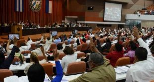 cuban parliamentarians during session