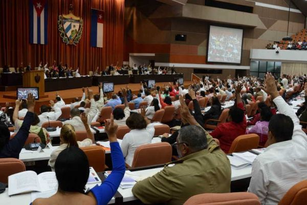 cuban parliamentarians during session