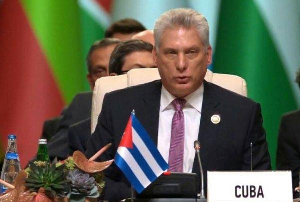 diaz-canel-in azerbaiyan summit