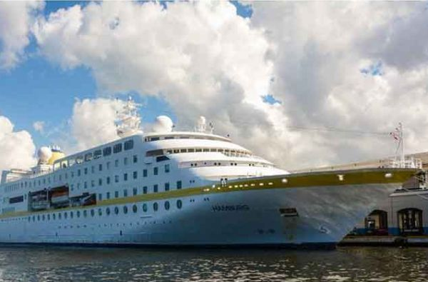 German cruise ship Hamburg arrives in Havana, Cuba