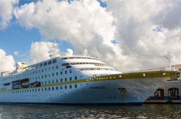 German cruise ship Hamburg arrives in Havana, Cuba