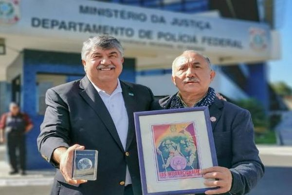 Richard Trumka and Pepe Alvarez